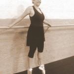 Primeira aula de ponta no ballet aos 45 anos