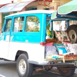 Bazar móvel de almofadas pega carona na moda do food truck