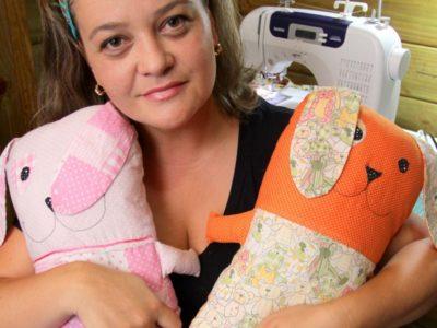 Como artesã ela consegue ser uma mãe mais presente