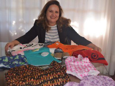 Ela deixou o cargo de executiva para abrir uma loja virtual de roupas infantis