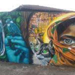 Depois do graffiti o muro virou obra de arte